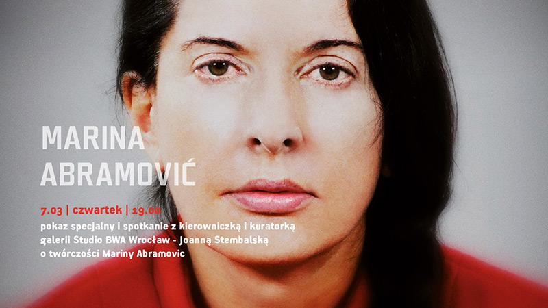"Pokaz filmu ""Marina Abramović. Artystka obecna"""