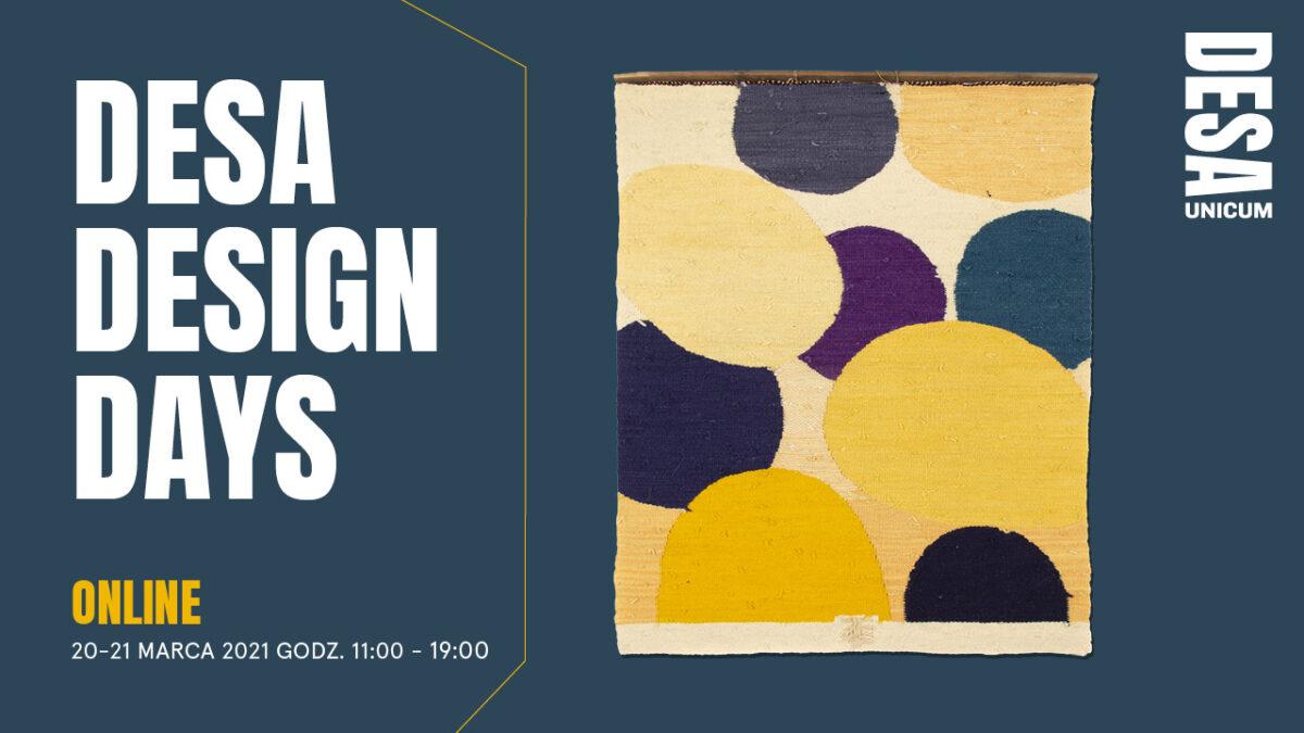 Desa Design Days 2021 – Polska Szkoła Tkaniny i Design